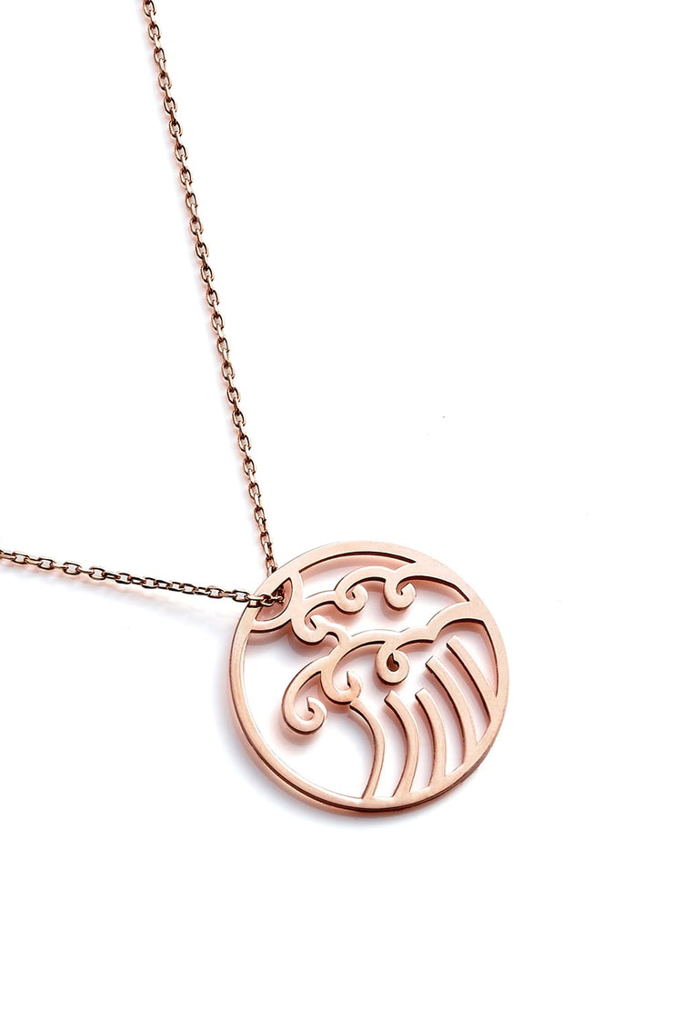 Wave Necklace - Rose Gold - Necklace