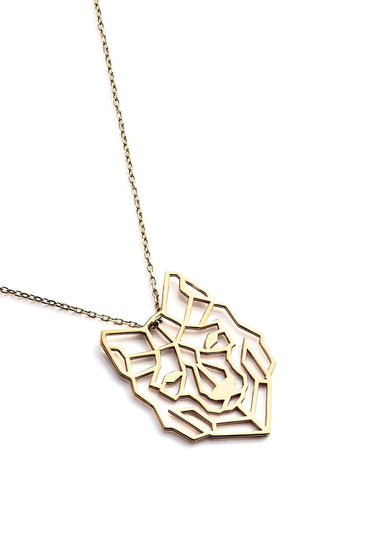 Wolf Necklace - Gold - Necklace