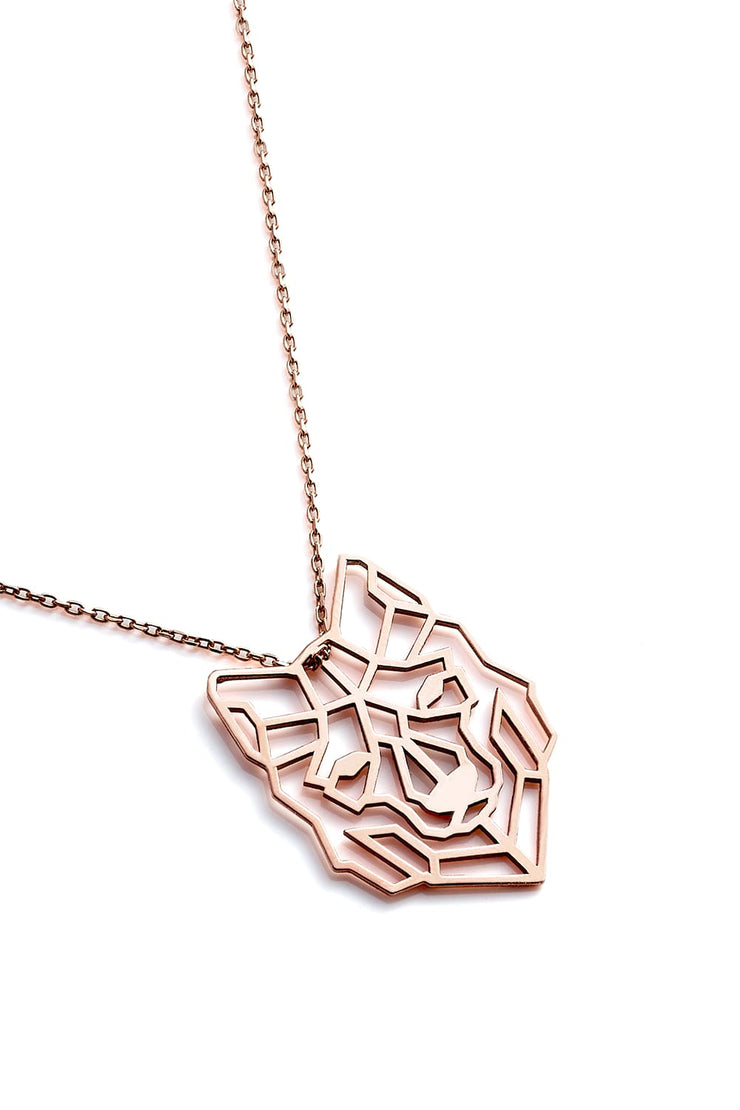 Wolf Necklace - Rose Gold - Necklace