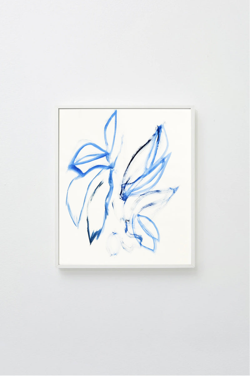 Florals in Yves Klein Blue