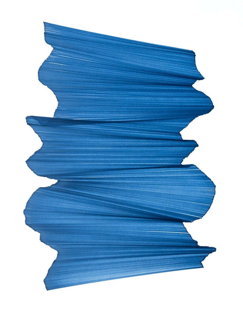 Blue lines intersect on white paper, appearing to float.