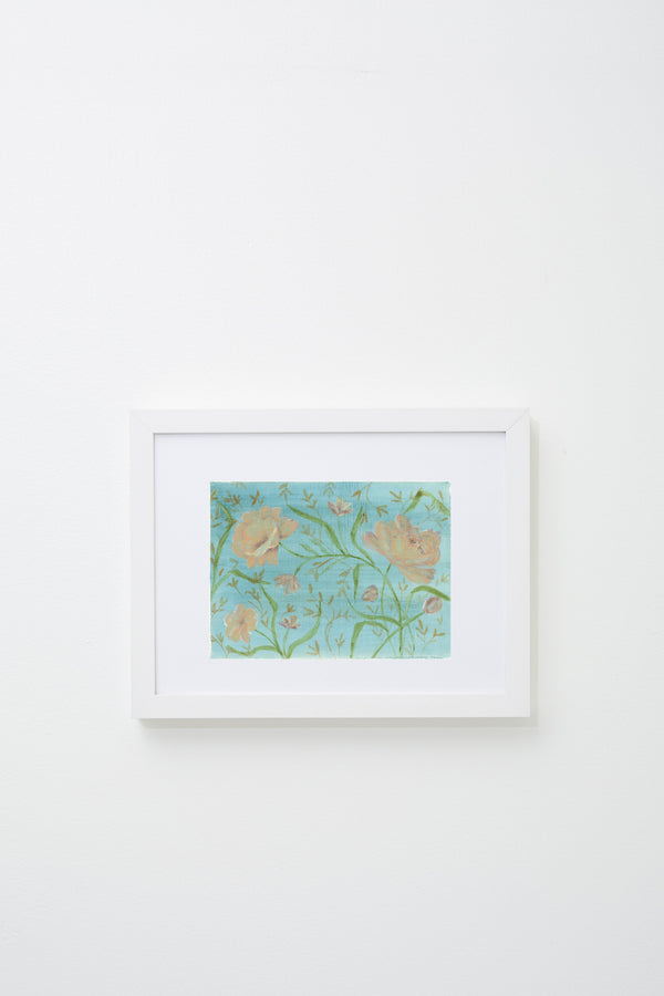 """Untitled (blue sky)"" framed, hung on wall."