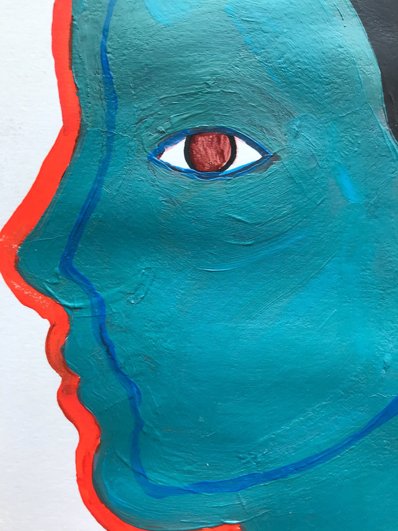 """Untitled (turquoise)"" detail"