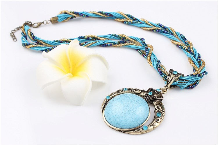 Vintage Statement Boho Necklaces & Pendants - 5 Classic Colors - [neshe.in]