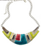 Ethnic Silver Colorful Enamel Chunky Choker Necklace - 3 Styles - [neshe.in]
