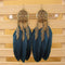 Vintage Leaf Feather Dangle Earrings - [neshe.in]