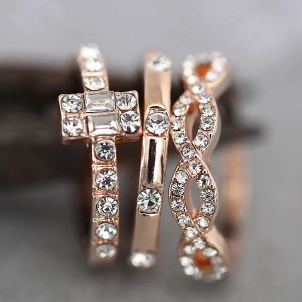 Party Statement Rings Set of 3 Rings - [neshe.in]