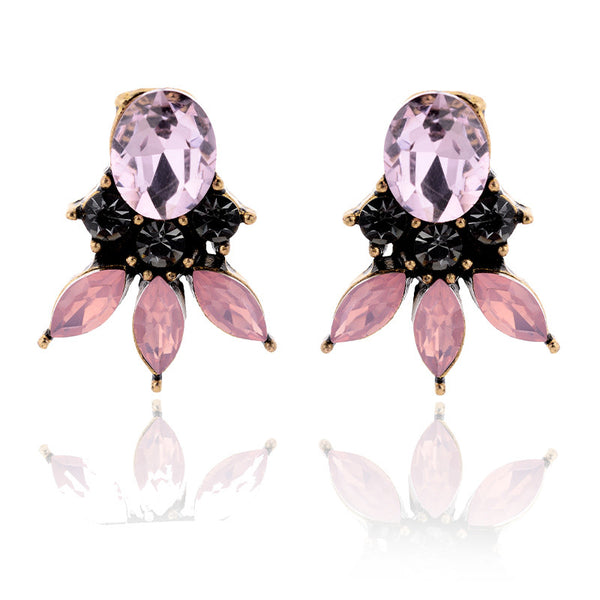 Stylish Crystal Stud Earrings - 2 Colors - [neshe.in]