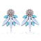 Blue & White Elegant Acrylic Crystal Stud Earrings - [neshe.in]