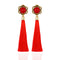 Luxury Three Color Vintage Flower Hollow Beads Tassel Earrings - 3 Colors - [neshe.in]