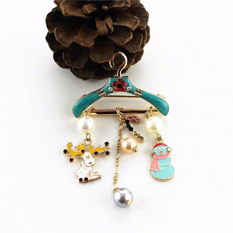 Hanger Shape Golden Fashion Party Brooch - [neshe.in]