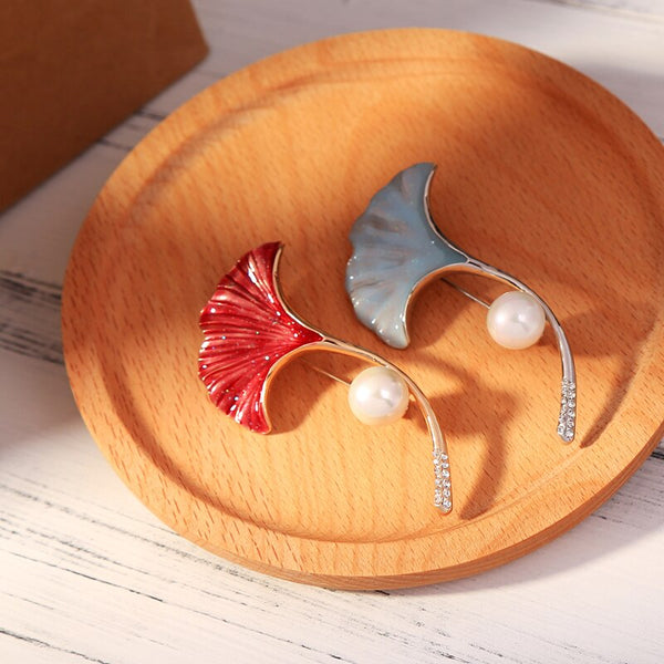Floral Enamel Brooch - 2 Colors - [neshe.in]