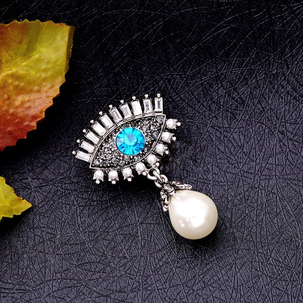Evil  Eye with Pearl  Brooch