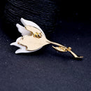 White Flower Pin Lily Suit Pin Brooch - [neshe.in]