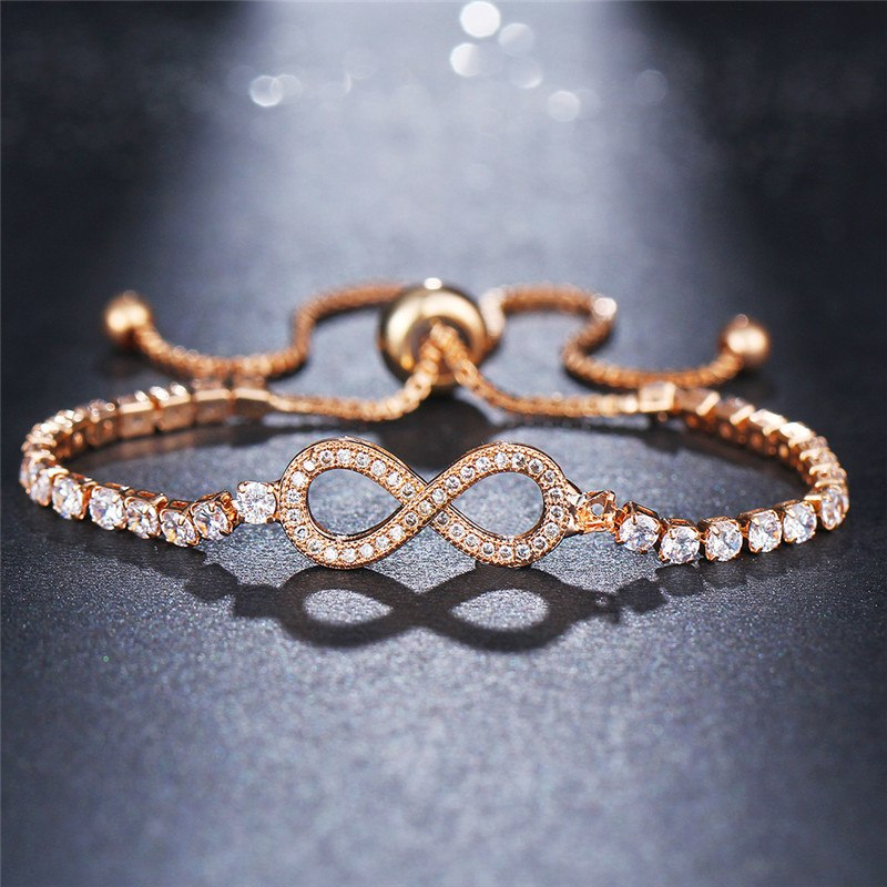 Fashionable  Crystal Infinity Charm Bracelets For Women -2 colors - [neshe.in]