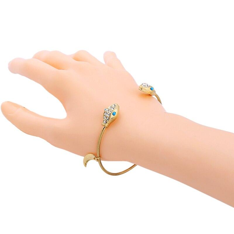 Open Cuff Serpent Head Novelty Bangle Bracelet - [neshe.in]
