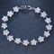 AAA CZ Platinum Plated Crystal Bracelet - [neshe.in]