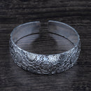 Asian Flower Tibetan Silver vintage Cuff Bangle Bracelet - [neshe.in]