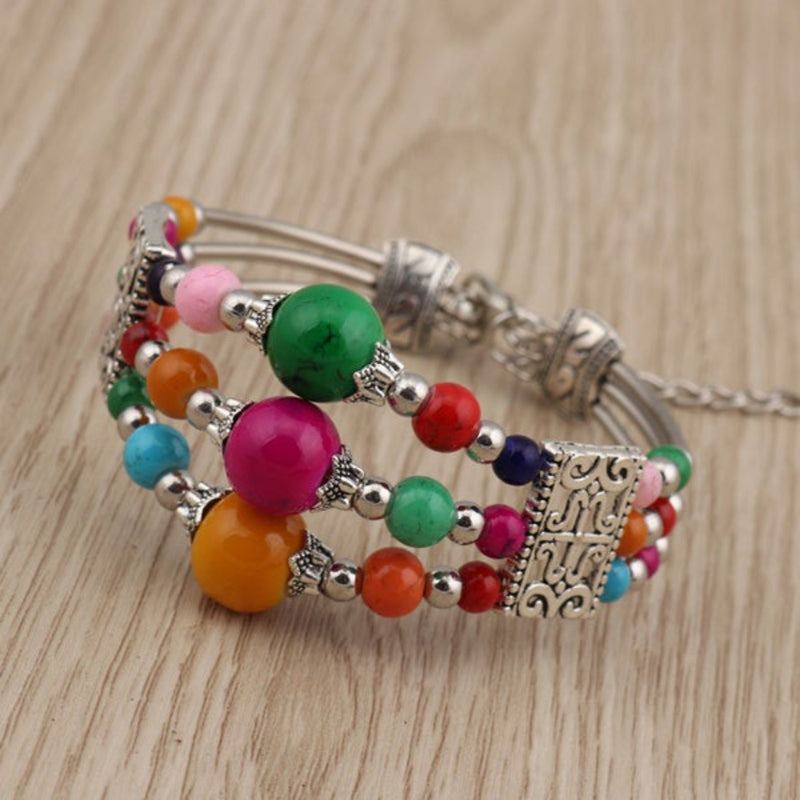 Bohemian Three Layered Bracelet - 2 Colors - [neshe.in]