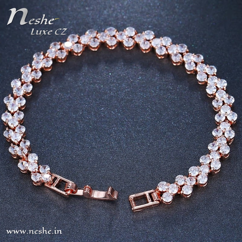 CZ Crystal Inlay Charm Bracelet - 3 Colors