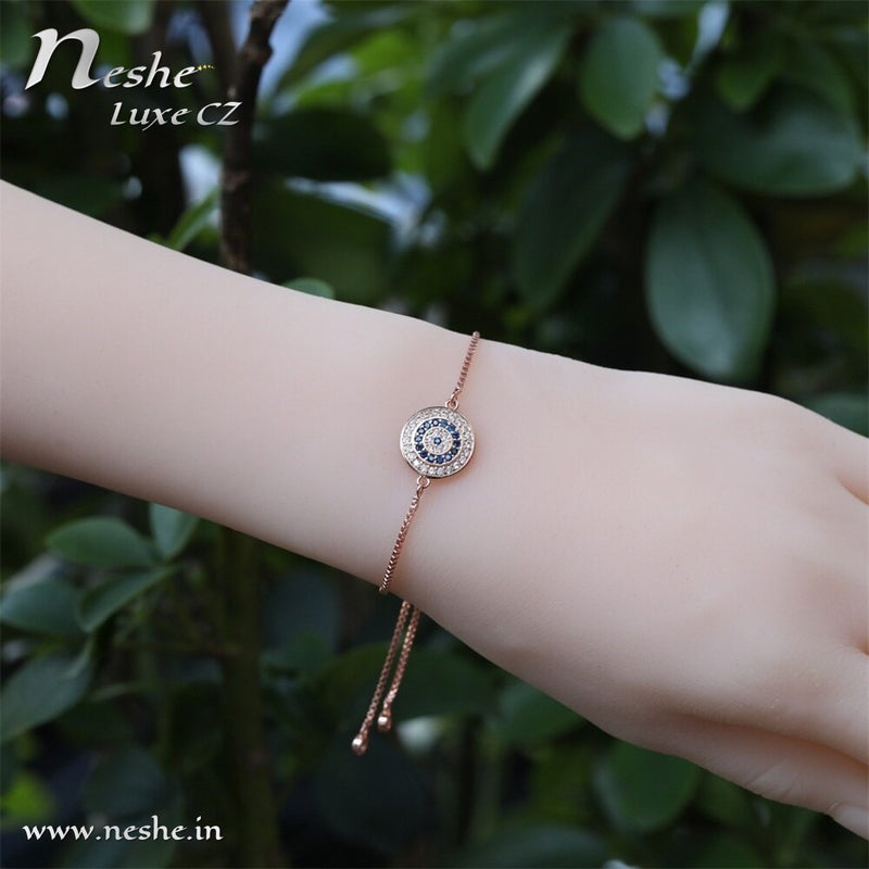Evi Eye CZ Charm  Bracelets Adjustable -2 Colors