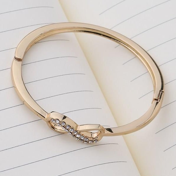 High Quality Elegant Fashion Designer Alloy Crystal Gold Bracelet - [neshe.in]