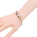 Crystal Bezel Setting Geometric Safety-Pin Design Novelty Bracelet - [neshe.in]