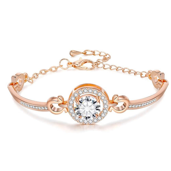 Austrian CZ Zircon Crystal Bracelet - 3 Colors - [neshe.in]
