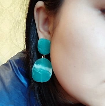 Geometric Shaped Acrylic Candy Color Earring -3 Colors - [neshe.in]