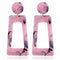 Trapezium Styled Acrylic Styled Earring  - 3 Colors - [neshe.in]