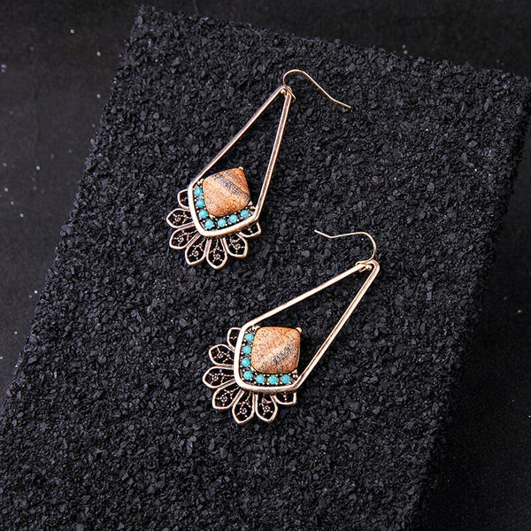 Ethnic Vintage Fish Hook Style Earring - [neshe.in]