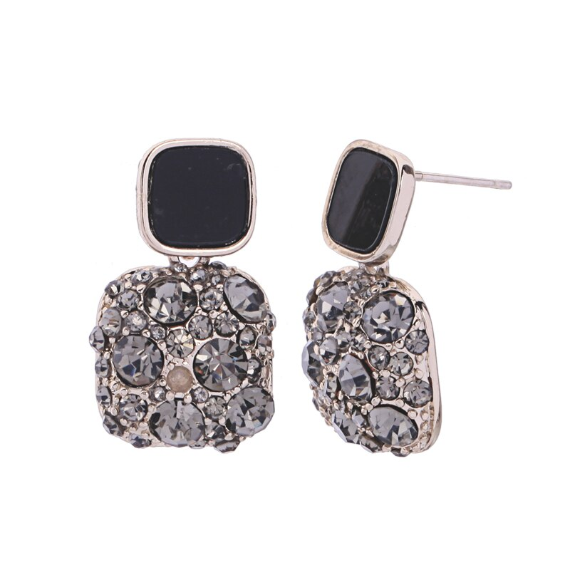 Small Square Shaped Drop and Dangle Earring - [neshe.in]