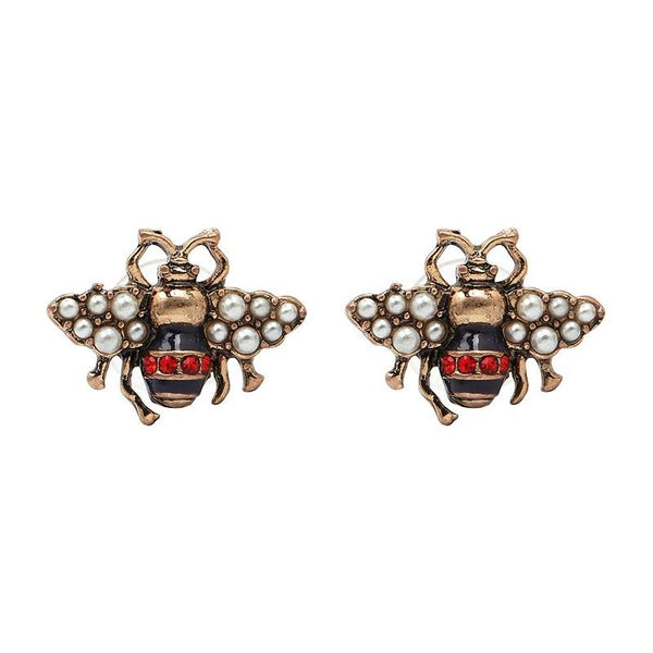 Vintage Bee Retro styled stud earring - [neshe.in]