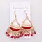 Ethnic Korean Style Oil Painted Tassels Drop Earrings - 4 Colors - [neshe.in]