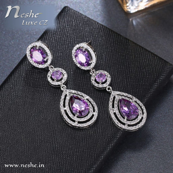 AAA Cubic Zircon Water Drop Shape Wedding Earring