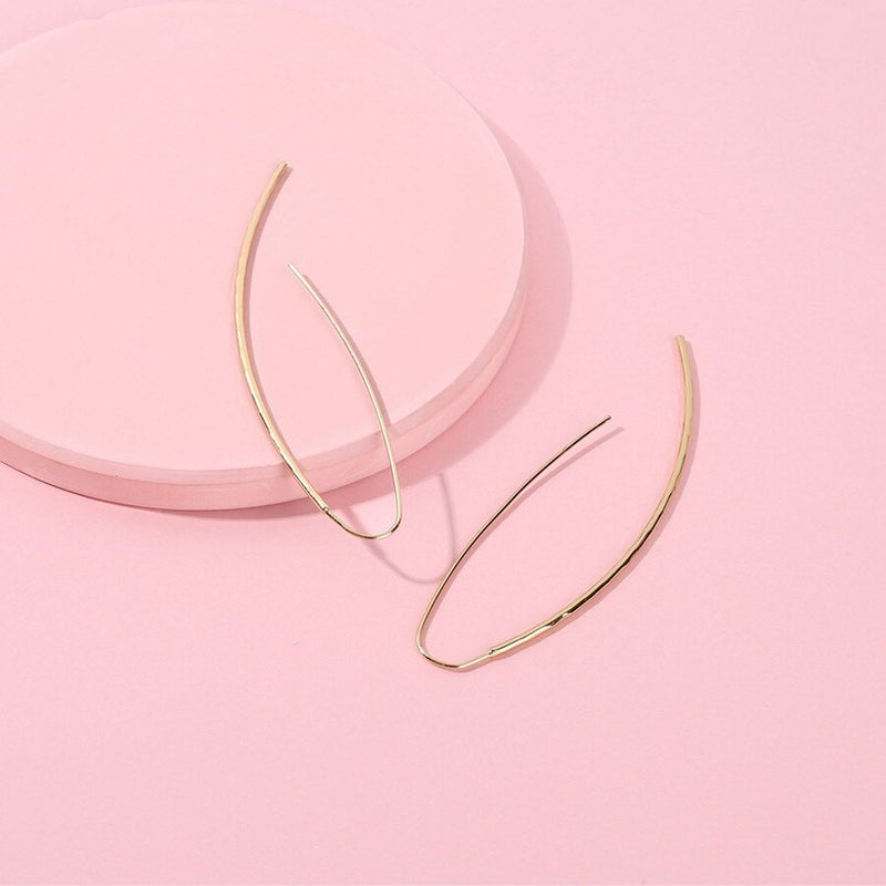 Simply Classic Needle Hook Style Earring - 2 Colors