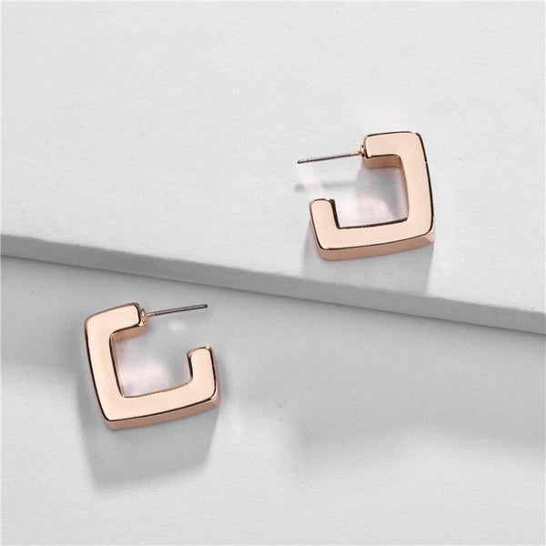 Geometric Huggy Hoop Earring -2 Colors