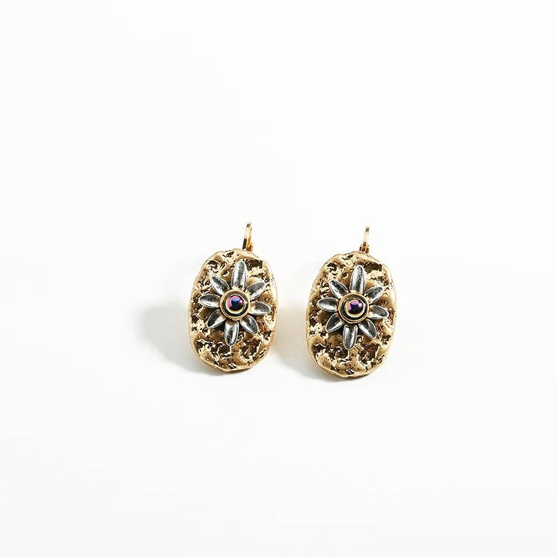 Irregular Textured Alloy Clip on  Earring - 2 Style