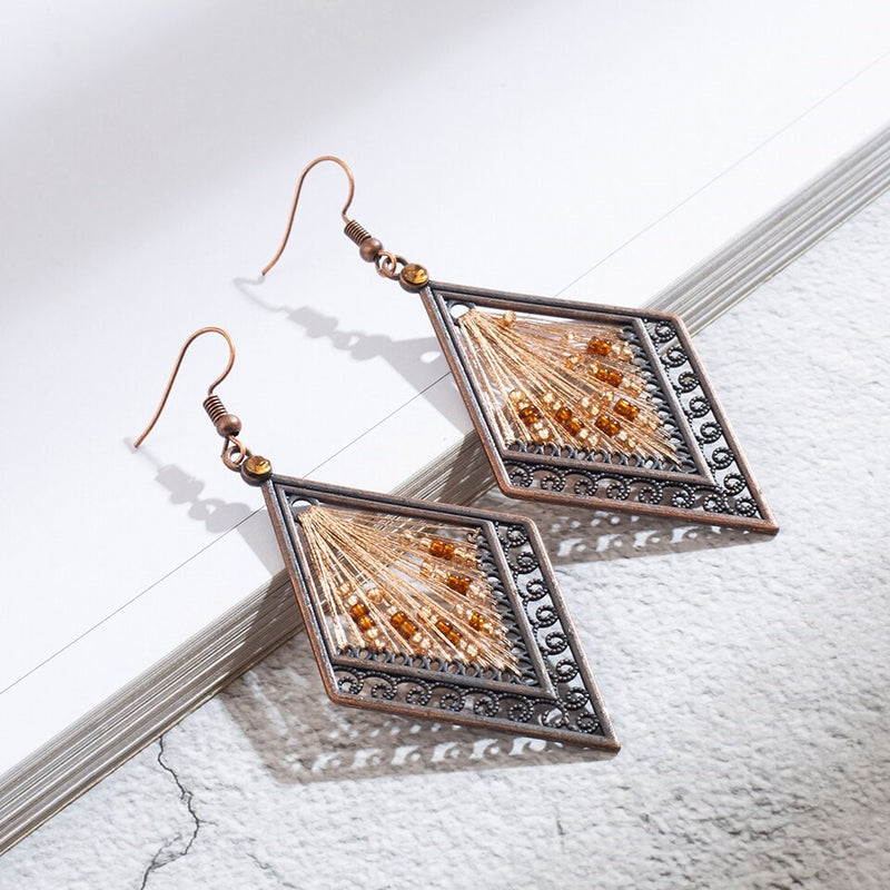 Thread Work Handmade Ethnic Earring