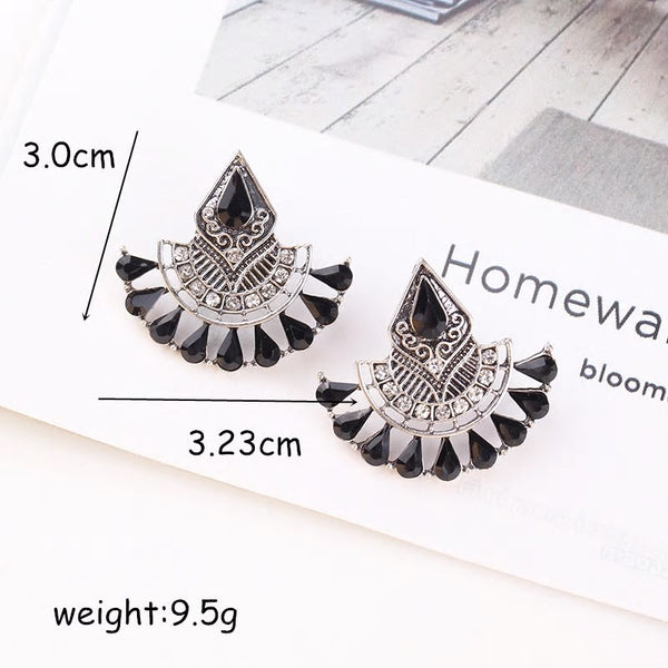 Vintage geometric Ethnic Semicircle earring - 2 styles