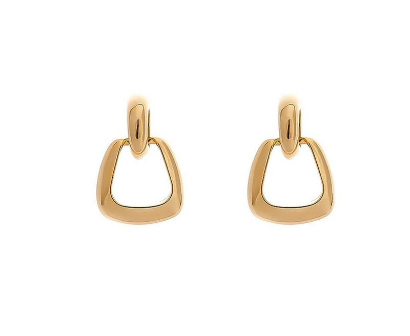 Geometric Drop Dangle  D Design earring