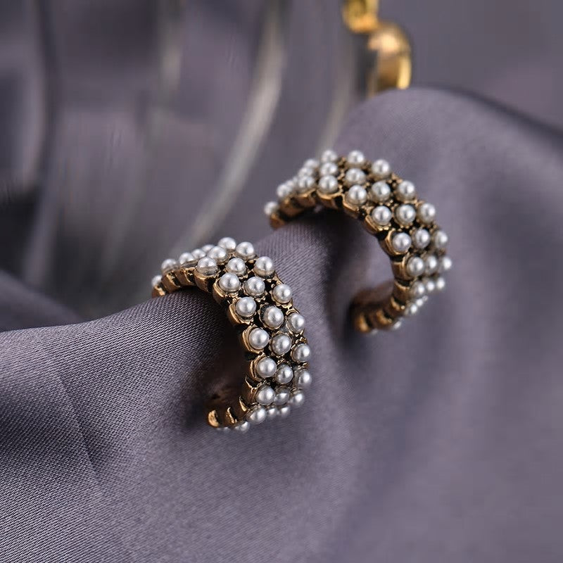 Korean Imitation Pearl Stud earring with 925 silver sterling pin