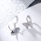 Crystal Zirconia Cute Butterfly Huggy Hoop Earrings - 2 Colors
