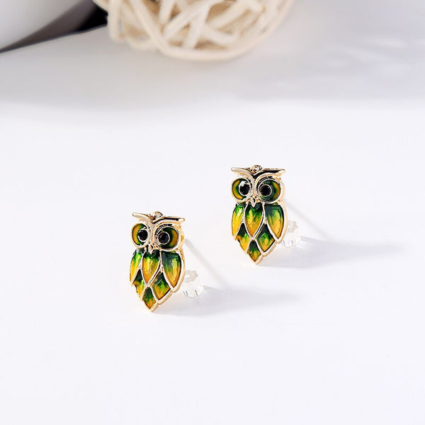 Cute  Colorful Owl Stud Earring