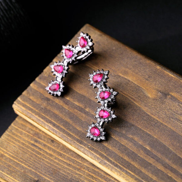 Geometric Pink Ear Cuff Clip -on Earring