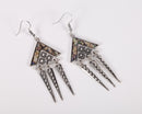 Colorful Ethnic Geometric Dangle Earrings - 2 Colors - [neshe.in]