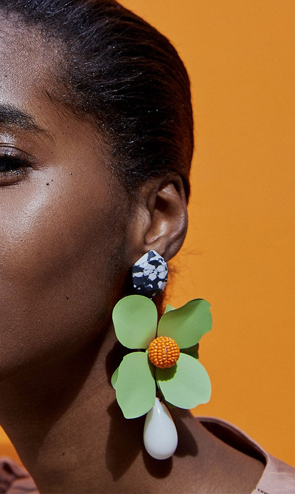 Vintage Big Flower Drop Statement Earrings - 7 Colors - [neshe.in]