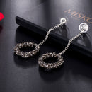 Long Dangle Chandelier Geometric Rhinestone Earrings - [neshe.in]