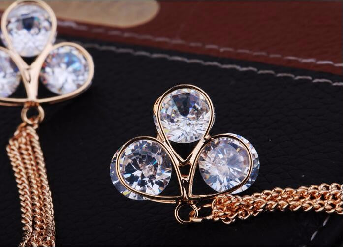 Luxury Elegant Fashion Jewelry Classic Earrings Stones - [neshe.in]