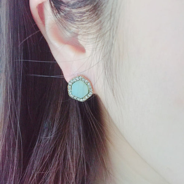 Light Blue Crystal Stud - [neshe.in]
